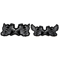 Set of 2 Tattoo Gun Patches with and without wings