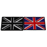 Set of 2 United Kingdom Flags in Color and Black White