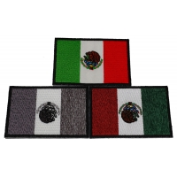 Set of 3 Mexican Flag Patches in different colors