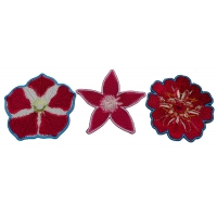 Set of 3 Pink Flower Patches