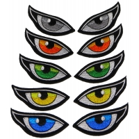 Set of 5 Colored Eye Patches including left and right eyes
