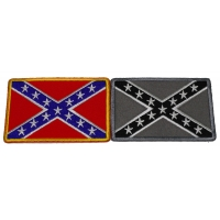Southern Flag Patches 2 Confederate Flags