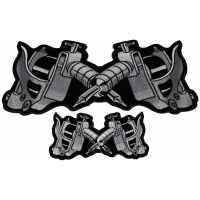 Tattoo Guns Patches Small And Large Patch Set