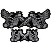 Tattoo Guns Patches Small and Large Set with and without wings