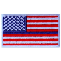 Thin Blue Line RWB American Flag Patch | Embroidered Patches