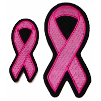 Two Pink Ribbon Patches