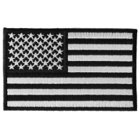 Us Flag Black White Patch 4 Inch | Embroidered Patches