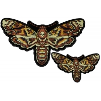 Wicked Moth with Skull Small and Large Patch Set