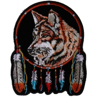 Wolf and Feathers Small Patch