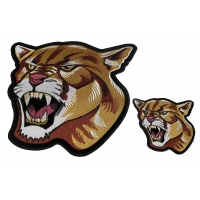 Cougar Patches - 2 Pack of Small and Large