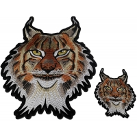 Lynx Cat Patches 2 Pack Small and Large