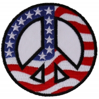 US Flag Peace Sign Patch