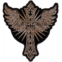 Christian Cross with Wings Patch
