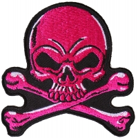 Pink Skull Patch