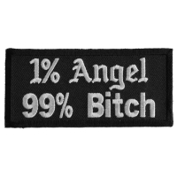 1 Percent Angel 99 Percent Bitch Patch | Embroidered Patches
