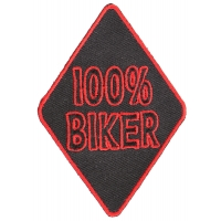 100 Percent Biker Patch | Embroidered Patches