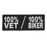 100 Percent Vet 100 Percent Biker Patch