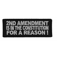 2nd Amendment For A Reason Patch | Embroidered Patches