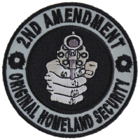 2nd Amendment Round Original Homeland Security Patch | Embroidered Patches
