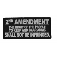 2nd Amendment Shall Not Be Infringed Patch | Embroidered Patches
