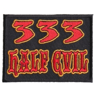 333 Half Evil Patch | Embroidered Patches
