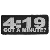 4 19 Got A Minute Funny Stoner Patch | Embroidered  Pot Patches