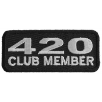 420 Club Member Funny Stoner Patch | Embroidered Pot Patches