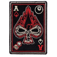 Ace Of Spades Skull Small Biker Patch | Embroidered Patches