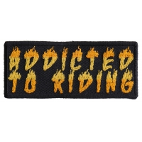 Addicted To Riding Fun Motorcycle Biker Patch