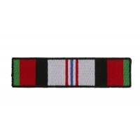 Afghan War Service Ribbon Patch | US Afghan War Military Veteran Patches