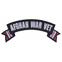 Afghan War Vet Small Ribbon Rocker | US Military Veteran Patches