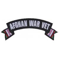 Afghan War Vet Small Ribbon Rocker | US Military Veteran Patches