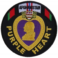 Afghanistan Purple Heart Patch | US Military Veteran Patches