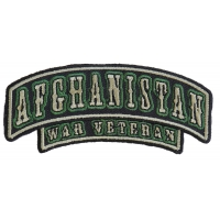 Afghanistan War Veteran Rocker Small Patch | US Military Veteran Patches