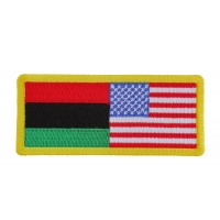 African American Flag Patch | Embroidered Patches