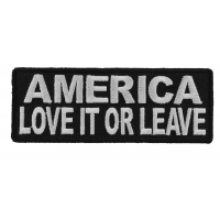 America Love It Or Leave Patch | US Military Veteran Patches