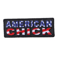 American Chick Patch | Embroidered Patches