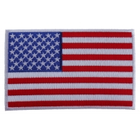 American Flag Patch with White Borders