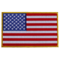 American Flag Patch with Yellow Borders
