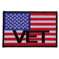 American Flag Vet Patch | US Military Veteran Patches