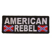 American Rebel Patch With Flags | Embroidered Patches