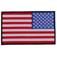 American REVERSED Flag Patch with Black Borders