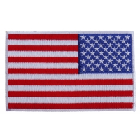 American REVERSED Flag Patch with White Borders