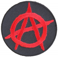 Anarchy Red Round Patch | Embroidered Patches