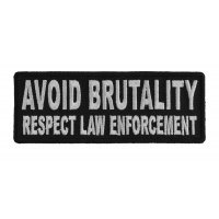 Avoid Brutality Respect Law Enforcement Patch | Embroidered Patches