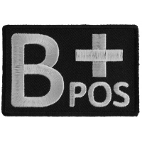 B POSITIVE Blood ID Patch