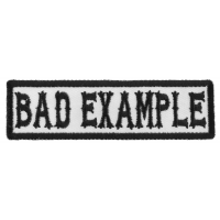 Bad Example Patch Black On White
