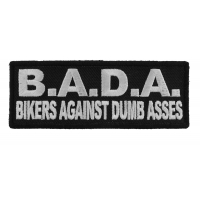 Bada Bikers Against Dumbasses Patch | Embroidered Patches