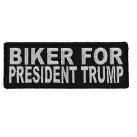 Biker For President Trump Patch