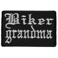Biker Grandma Patch In Old English